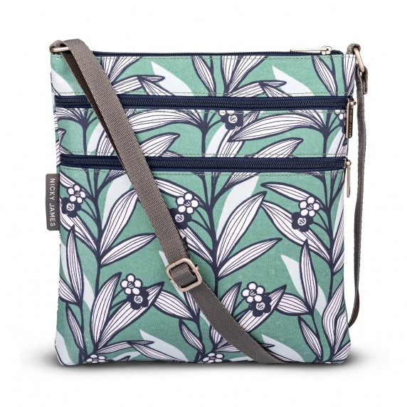 Tribal Leaf Print Crossbody Bag