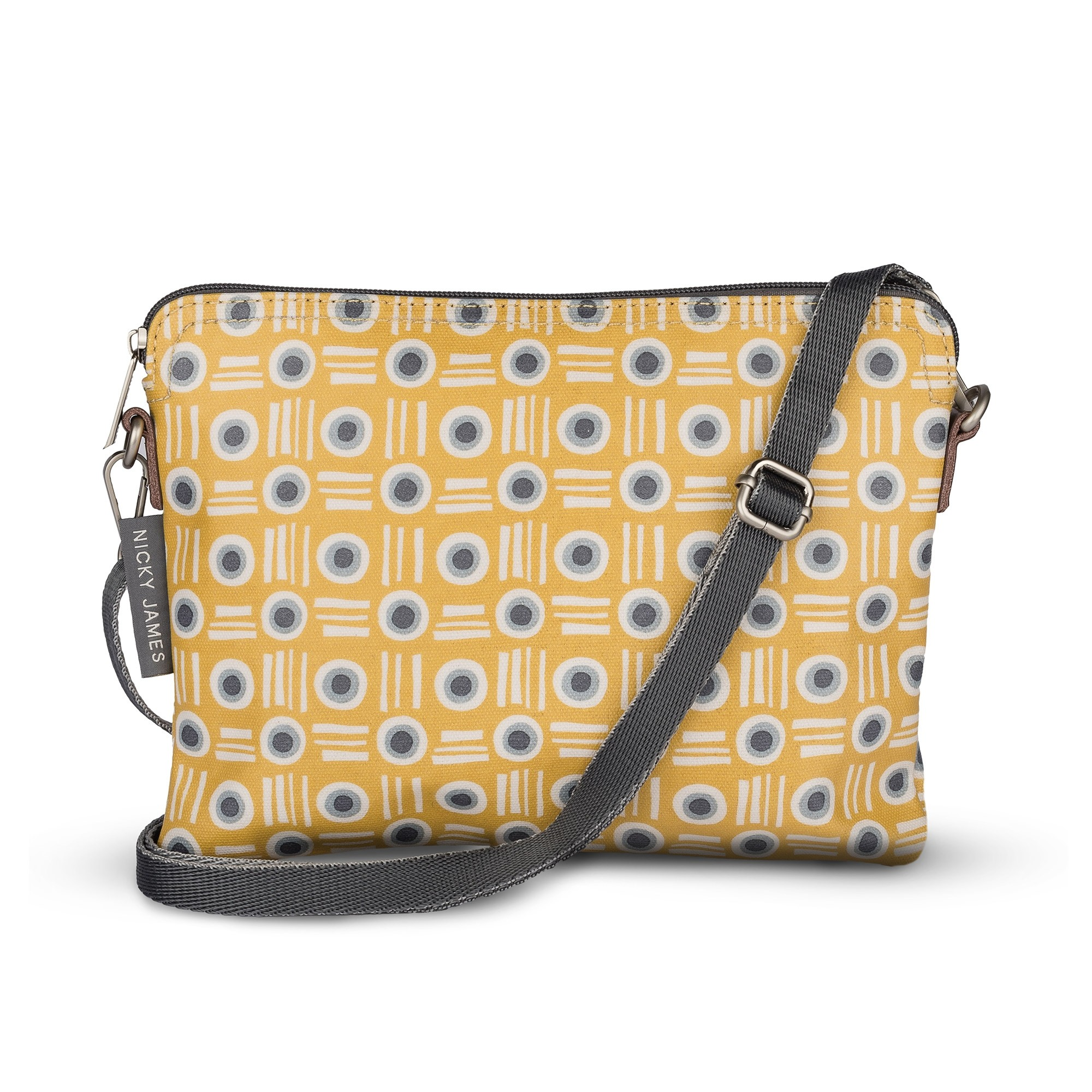 Mustard Pot Clutch with Removable Strap