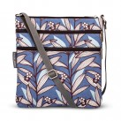 Wildflower Blue Triple Zip Crossbody