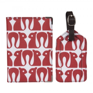 Red Squirrel Luggage Tag Set