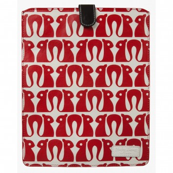 Squirrel Red Leather iPad Sleeve