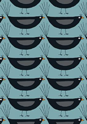 Blackbirds on Blue