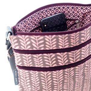 Vine Triple Zip Crossbody