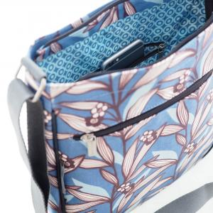Wildflower Blue Large Crossbody Bag