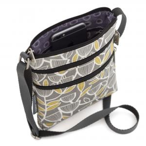 Grey Bird Mini Crossbody Bag