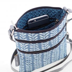 Vine Blue Mini Crossbody Bag