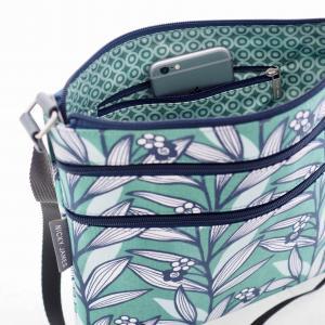 Wildflower Green Triple Zip Crossbody