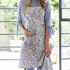 Grey Doves Apron