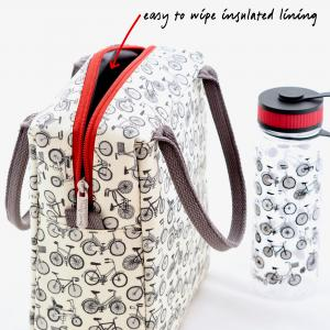 Bike Print Adult Lunchbag