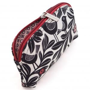 Black Bloom Canvas Mini Make-Up Bag