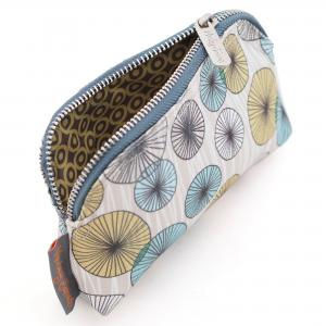 Circles Print Canvas Mini Make-Up Bag