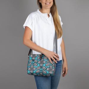 Tribal Leaf Print Crossbody Day Bag