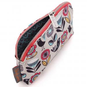 Fifties Floral Canvas Mini Make-Up Bag