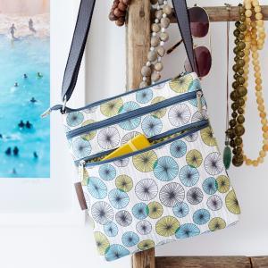 Penguin Army Canvas Flat Crossbody Bag