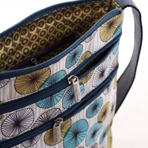 Circles Canvas Flat Crossbody Bag