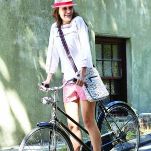 Bikes Large Crossbody Bag