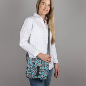Tribal Leaf Print Ladies Satchel