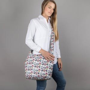 Fifties Floral Print Canvas Shoulder Bag