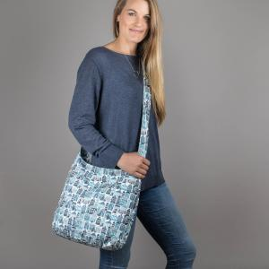 Blue Houses Canvas Shoulder Bag